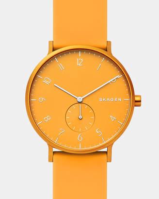 Skagen Aaren Yellow Analogue Watch
