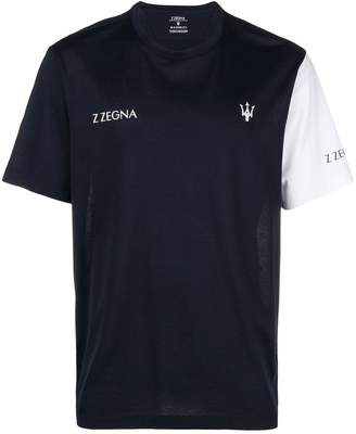 Ermenegildo Zegna colour blocked T-shirt