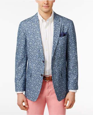 Tommy Hilfiger Men's Slim-Fit Blue Paisley Sport Coat $295 thestylecure.com