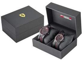 Ferrari Mens Two-Watch Scuderia Watch Gift Set