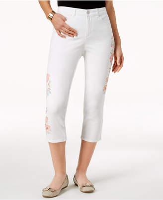 Charter Club Bristol Embroidered Capri Jeans