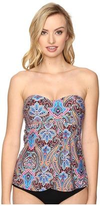 Jantzen - Vibrant Paisley Flutter Tankini Top Women's Swimwear $84 thestylecure.com
