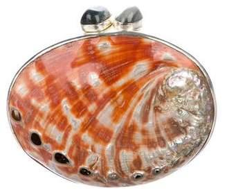 Celestina Seashell Clutch