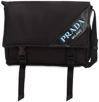 Prada New Logo Nylon Messenger Bag