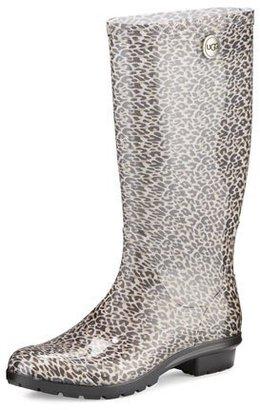 UGG Shaye Leopard-Print Rain Boot, Black $80 thestylecure.com