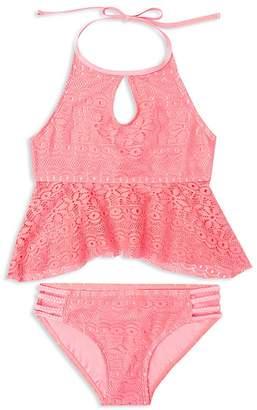Gossip Girl Girls' Gypsy Breeze Crochet 2-Piece Swimsuit - Big Kid