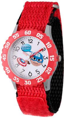 Marvel Emoji Boys Red Strap Watch-Wma000087