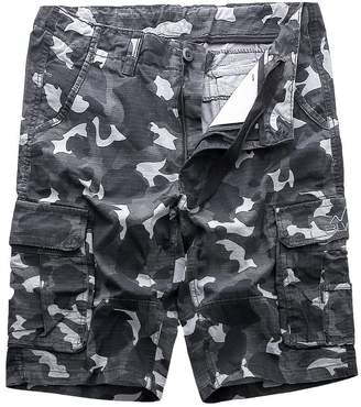 MADHERO Mens Camo Cargo Shorts Big Tall Camouflage Twill Cargo Shorts