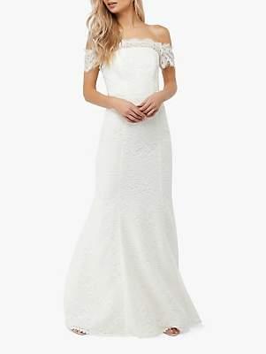 Monsoon Sophie Lace Wedding Dress, Ivory