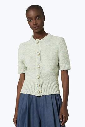 Marc Jacobs Short-Sleeved Metallic Wool-Blend Cardigan