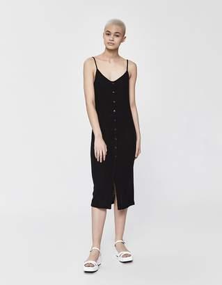 Stelen Marcelina Button Down Tank Dress in Black