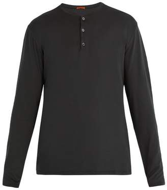 Barena Venezia - Henley Long Sleeve T Shirt - Mens - Black