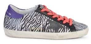 Golden Goose Superstar Zebra Sneakers