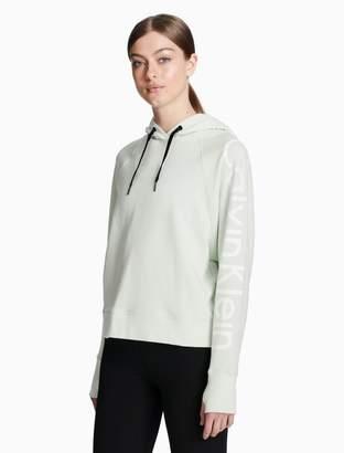 Calvin Klein logo raglan sleeve hoodie