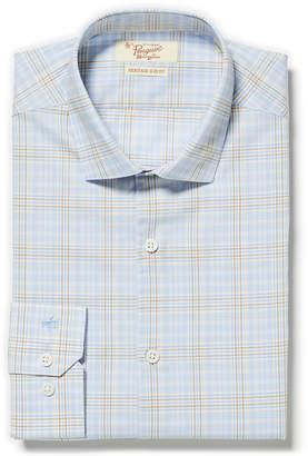 Original Penguin LINEN BLUE GLEN PLAID DRESS SHIRT