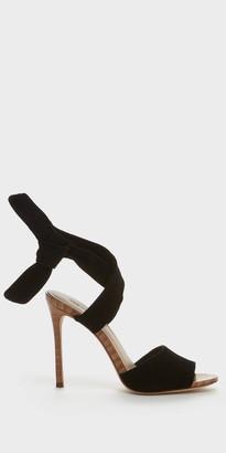 Elsa | Black leather strap shoes | Pour La Victoire $265 thestylecure.com