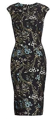 Zac Posen Women's Lurex Garden Jacquard Cocktail Dress