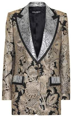 Dolce & Gabbana Silk-blend brocade blazer