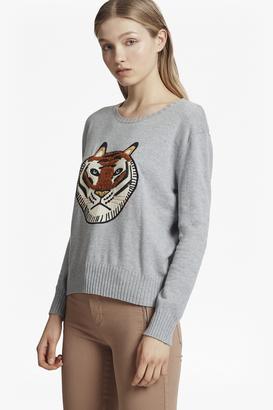 Tiger Knit Embroidered Jumper