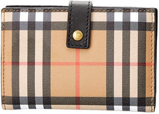 Burberry Vintage Check Canvas & Leather Folding Wallet
