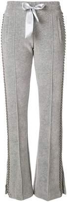 Philipp Plein ball chain trim flared trousers