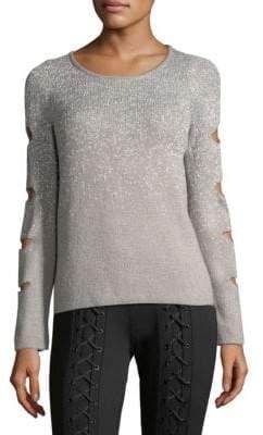 Sparkle Slash-Sleeve Sweater