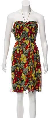 Anna Sui Strapless Silk Dress