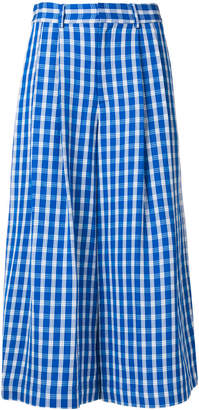 Sea checked cropped trousers