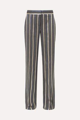 Peter Pilotto Metallic Striped Jacquard Wide-leg Pants