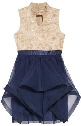 Blush by Us Angels Handkerchief Hem Tulle Dress