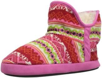 Dearfoams Women's Fairisle Ankle Bootie