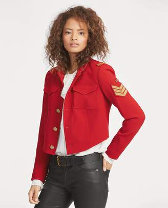 Ralph Lauren Twill Cropped Military Jacket