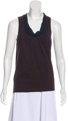 Dries Van Noten Scoop Neckline Sleeveless Top