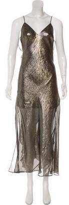 LoveShackFancy Silk-Blend Maxi Dress