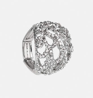 Avenue Sparkle Scallop Dome Stretch Ring
