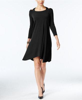 Alfani Cutout Handkerchief-Hem Dress, Only at Macy's $79.50 thestylecure.com