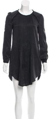 Etoile Isabel Marant Silk Pleated Shirtdress