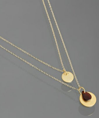 Wendy Mink gold discs double chain necklace