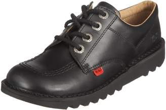 Kickers Youths Kick Lo Core Black Leather Shoes 38 EU
