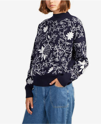 French Connection Embroidered Sweater