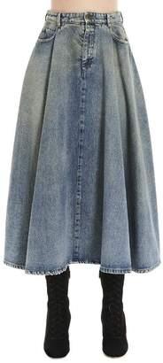 Miu Miu Flared Denim Skirt