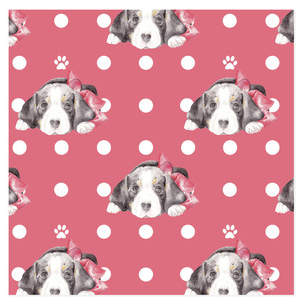 Beagles and Bows Wrapping Paper Self-Launch Wrapping Paper