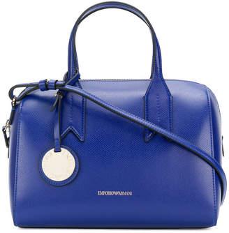 Emporio Armani charm-detail satchel