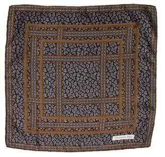 Christian Dior Paisley Print Handkerchief