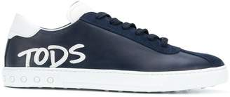 Tod's logo-appliqué lace-up sneakers