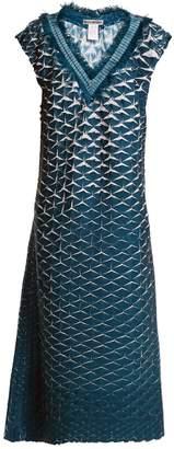 Issey Miyake Retrospect 1 pleated fringe-trimmed dress