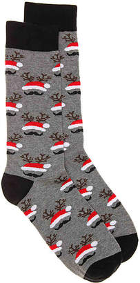 K. Bell Mustache Santa Hat Crew Socks - Men's