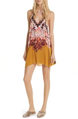 Free People Floral Haze Mini Trapeze Dress