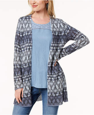 Style&Co. Style & Co Petite Open-Front Cardigan