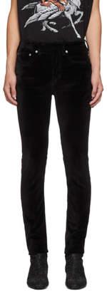 Neil Barrett Black Velvet Skinny Jeans